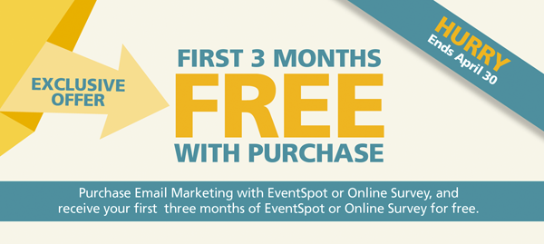 Don't miss this opportunity to turbo charge your online marketing. Use email, surveys, and event management to increase sales.